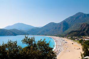 Sandy bay in Turkey