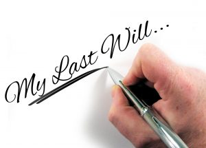 Someone writing their last will