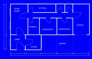 House blueprint layout plan