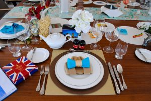 Themed party dinner place setting
