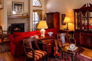 Lounge full of antique furniture