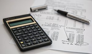 Bookkeeper's notes and calculator